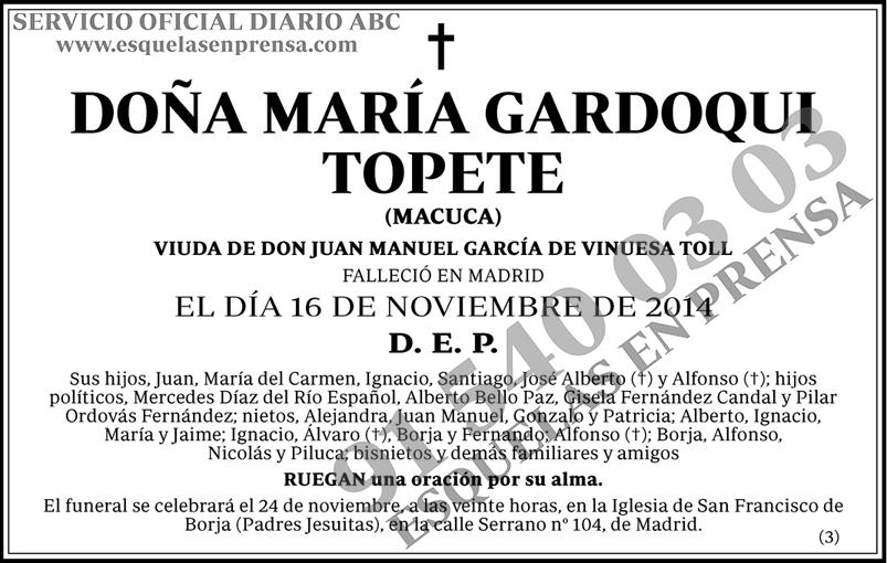 María Gardoqui Topete